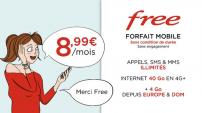Forfait Freemobile illimité 8€99 à vie!