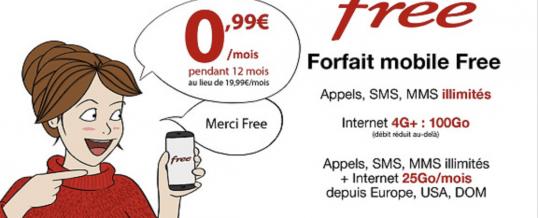 Vente Privée FREEMOBILE à 0€99/mois Pour les Fêtes de Noël!!!