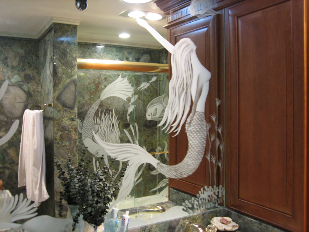 Custom Etched Mirrors Antique Contemporary Decorative