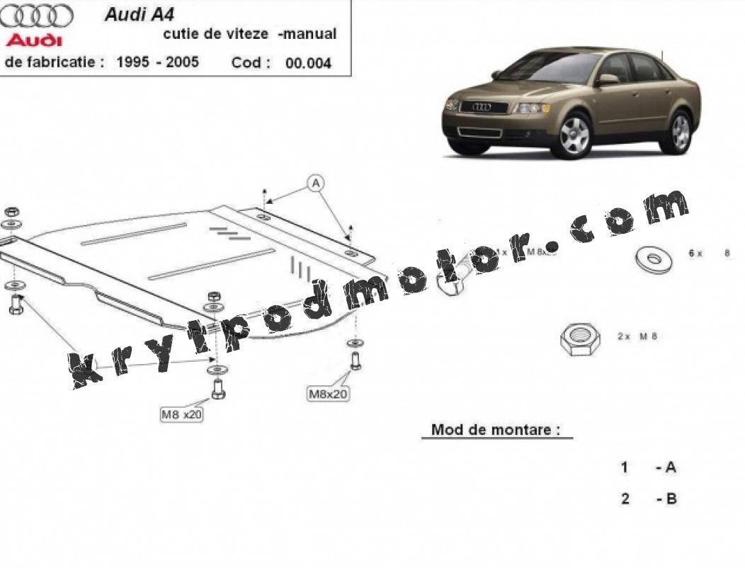Kryt pod manuální převodovka Audi A4 2