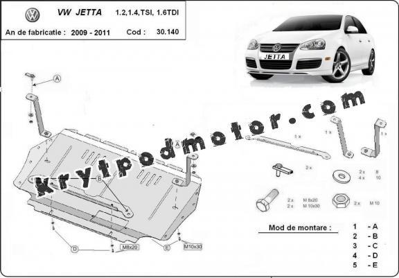 Kryt pod motor VW Jetta