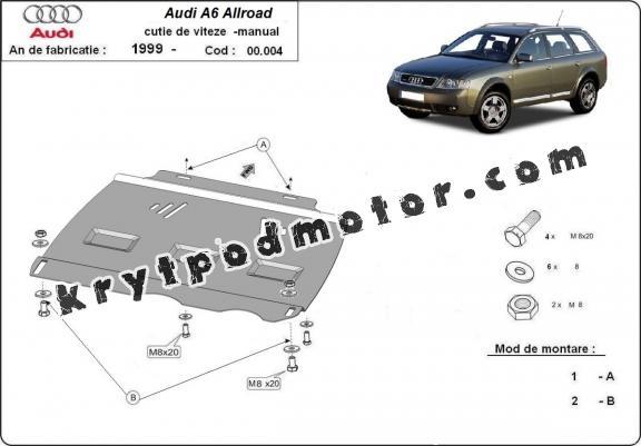Kryt pod manuální převodovka Audi Allroad