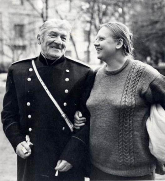 С Н.А. Крючковым во дворе «Ленфильма»