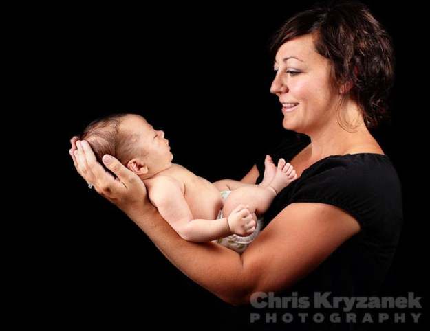 Mother with newborn Madonna session