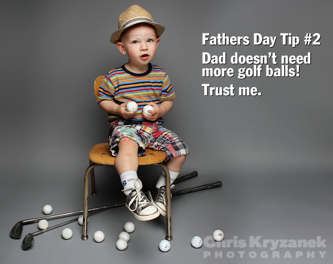 Fathers day tips no golf balls photo