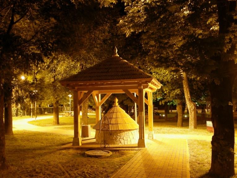 Park w Solcu nad Wisłą nocą (fot. K. Furmanek)