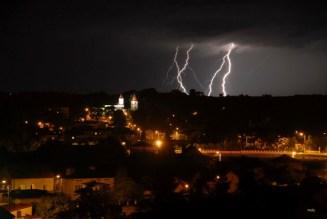 Kunów nocą (fot. arch. Gminy Kunów)
