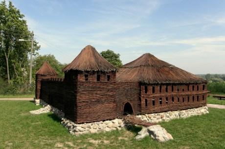Wiklinowa makieta zamku w Solcu nad Wisłą (fot. K. Furmanek)