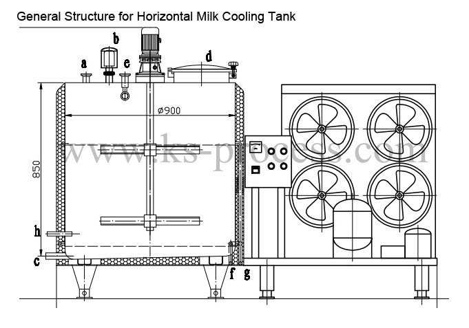Milk cooling tank(Quick open)-Stainless steel tank