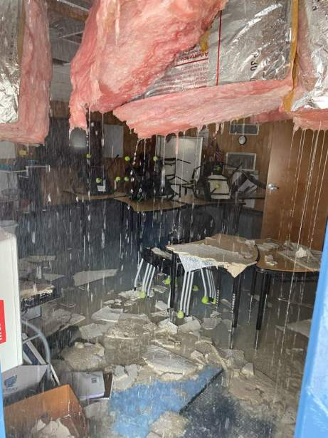 Image shows damage from one of the RMYA buildings. Photo credit: Roy Maas Youth Alternatives
