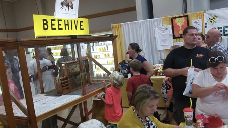Observation hive at the 2015 Honey Booth