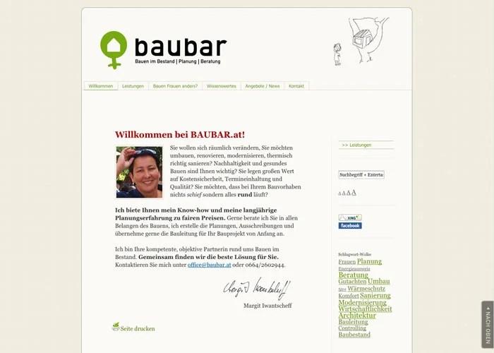 Website und Logo: Margit Iwantscheff - www.baubar.at