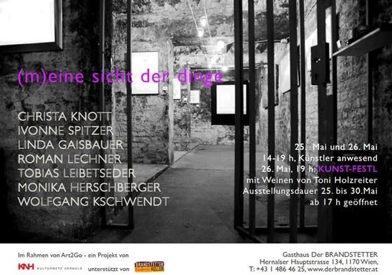 """Kulturnetz Hernals - Art2Go - Gruppenausstellung """"(m)eine sicht der dinge"""" - Ausstellungsflyer"""