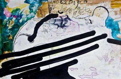 """""""Gefühlte Vibrationen"""", 60 x 40 cm, Mixed Media, Holz, 2015"""