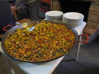 Paella at one of our Albergue stays.