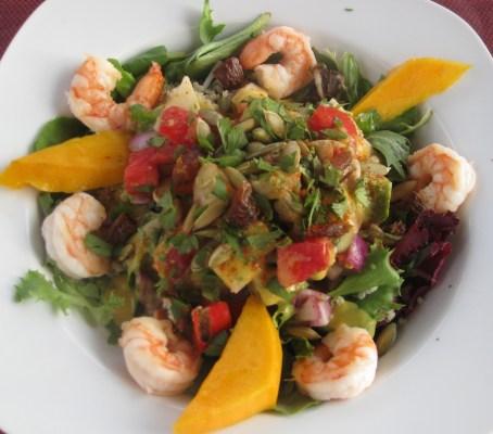 Mecca Azteca Salad with Shrimp