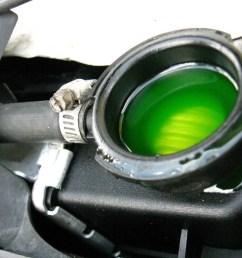 green antifreeze in a car radiator [ 1024 x 768 Pixel ]