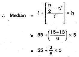 KSEEB SSLC Class 10 Maths Solutions Chapter 13 Statistics Ex 13.3 Q 7.2