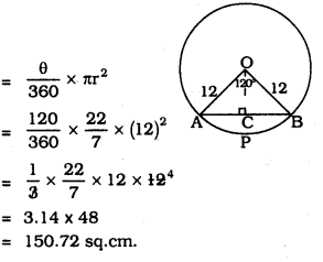 KSEEB SSLC Class 10 Maths Solutions Chapter 5 Areas Related to Circles Ex 5.2 14