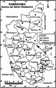 KSEEB Solutions for Class 9 Geography Chapter 1 Our State-Karnataka 1