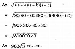 KSEEB Solutions for Class 9 Maths Chapter 8 Heron's Formula Ex 8.1 2