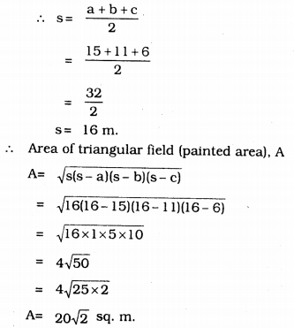 KSEEB Solutions for Class 9 Maths Chapter 8 Heron's Formula Ex 8.1 6