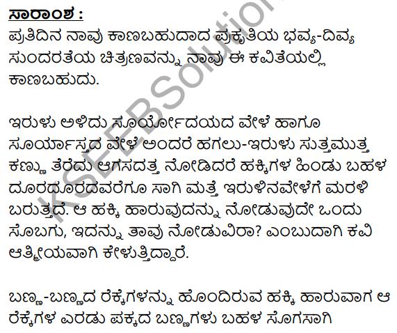 Hakki Harutide Nodidira Summary in Kannada 1