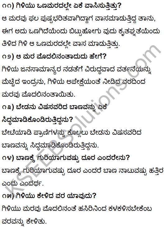 Tili Kannada Text Book Class 10 Solutions Gadya Chapter 1 Ona Marada Gili 4