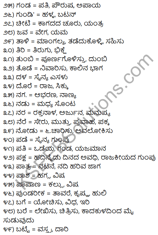 1st PUC Kannada Workbook Answers Nanartha Padagalu 2