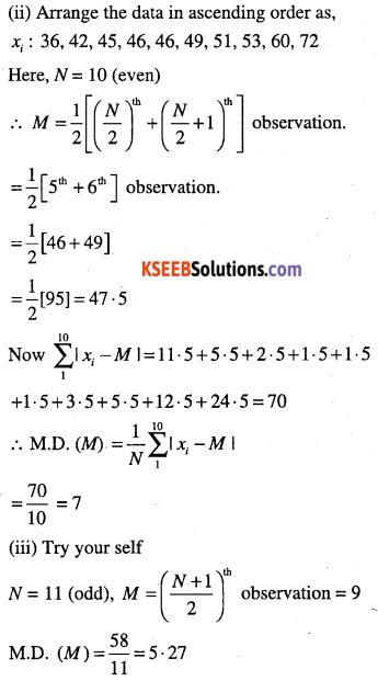 1st PUC Maths Question Bank Chapter 15 Statistics 4