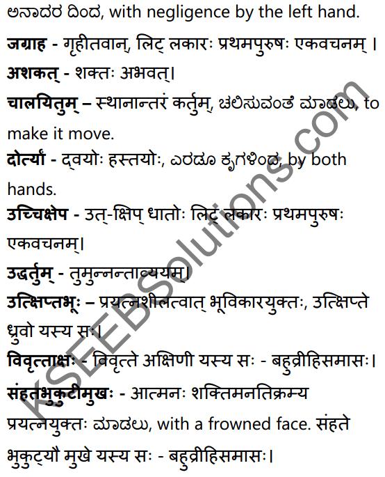 सत्त्वपरीक्षा Summary in Kannada and English 49