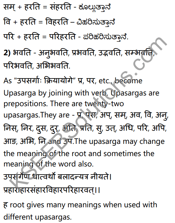 1st PUC Sanskrit Textbook Answers Vyakaran उपसर्गाः 2