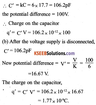 2nd PUC Physics Question Bank Chapter 2 Electrostatic Potential and Capacitance 12