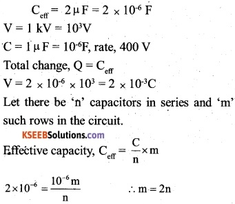 2nd PUC Physics Question Bank Chapter 2 Electrostatic Potential and Capacitance 34
