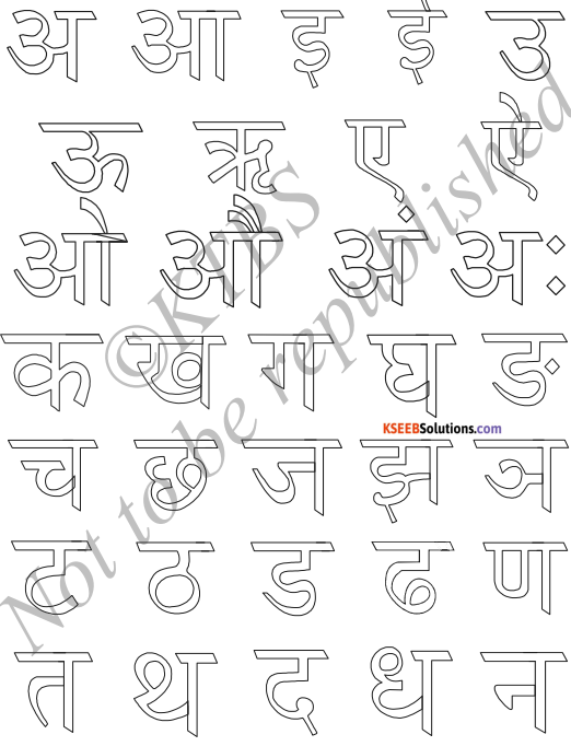 KSEEB Solutions for Class 6 Hindi Chapter 2 वर्णमाला 8