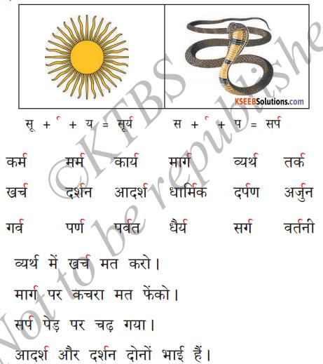 KSEEB Solutions for Class 6 Hindi Chapter 5 'र' की मात्राएँ रेफपदेन 2