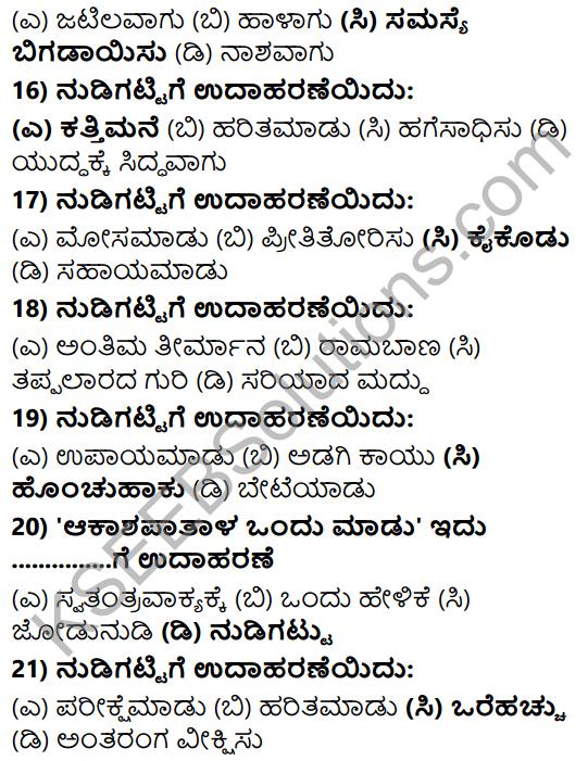 Karnataka SSLC Class 10 Tili Kannada Grammar Anvayika Vyakarana 41