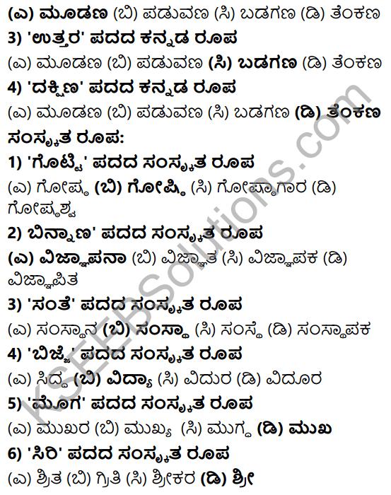 Karnataka SSLC Class 10 Tili Kannada Grammar Anvayika Vyakarana 55
