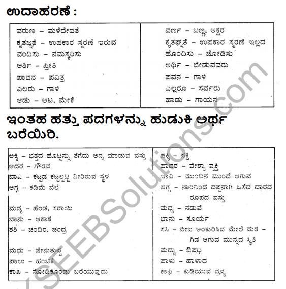 Siri Kannada Text Book Class 6 Solutions Padya Chapter 1 Besige 7