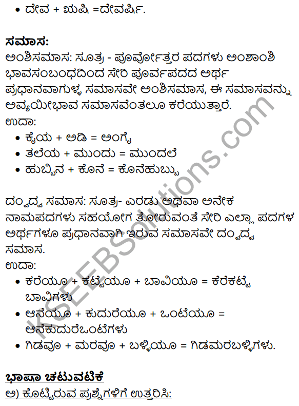 Siri Kannada Text Book Class 9 Solutions Gadya Chapter 2 Bedagina Tana Jayapura 11