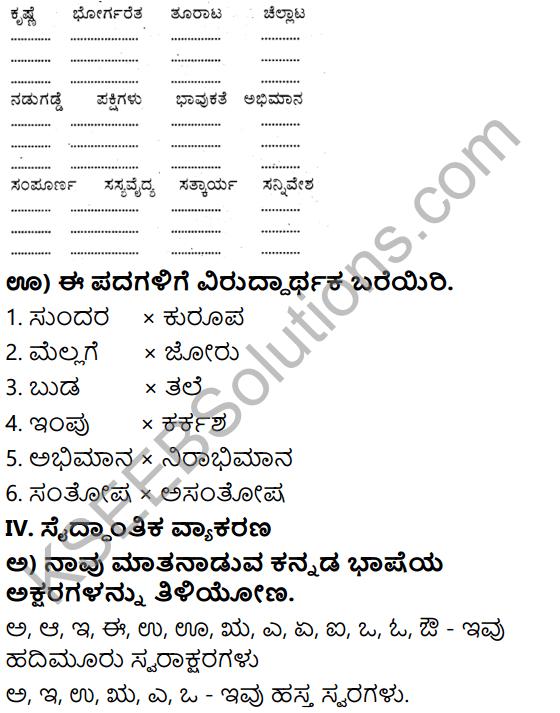 Tili Kannada Text Book Class 6 Solutions Gadya Chapter 2 Kugutide Pakshi 9