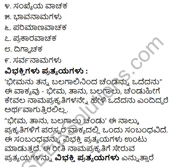 Tili Kannada Text Book Class 8 Saiddhantika Vyakarana Namapada - Vibhakti Pratyaya Galu 2