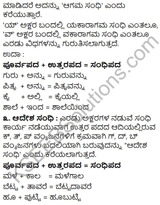 Tili Kannada Text Book Class 8 Vyakarana Kannada Sandhigalu 2