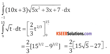 2nd PUC Basic Maths Question Bank Chapter 21 Definite Integral and its Applications to Areas Ex 21.1 - 5