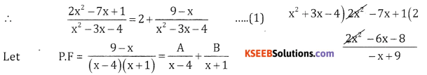 2nd PUC Basic Maths Question Bank Chapter 5 Partial Fractions Ex 5.2 - 23