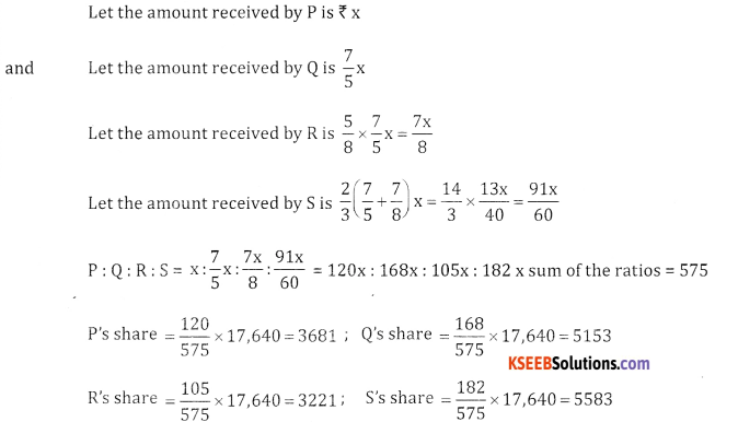 2nd PUC Basic Maths Question Bank Chapter 7 Ratios and Proportions Ex 7.1 - 9