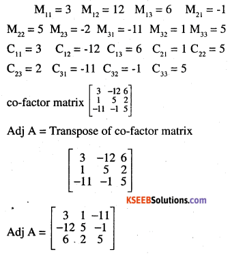 2nd PUC Maths Question Bank Chapter 4 Determinants Ex 4.5.2