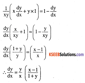 2nd PUC Maths Question Bank Chapter 5 Continuity and Differentiability Ex 5.5.19