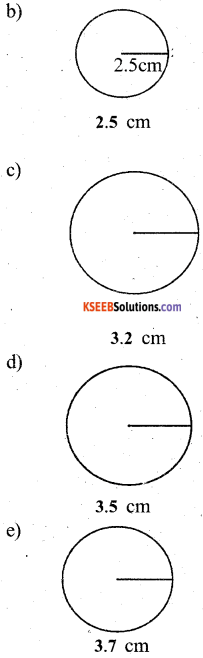 KSEEB Solutions for Class 5 Maths Chapter 7 Circles 9