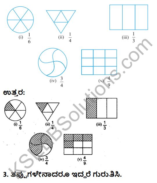 KSEEB Solutions for Class 6 Maths Chapter 7 Binnarashigalu Ex 7.1 2
